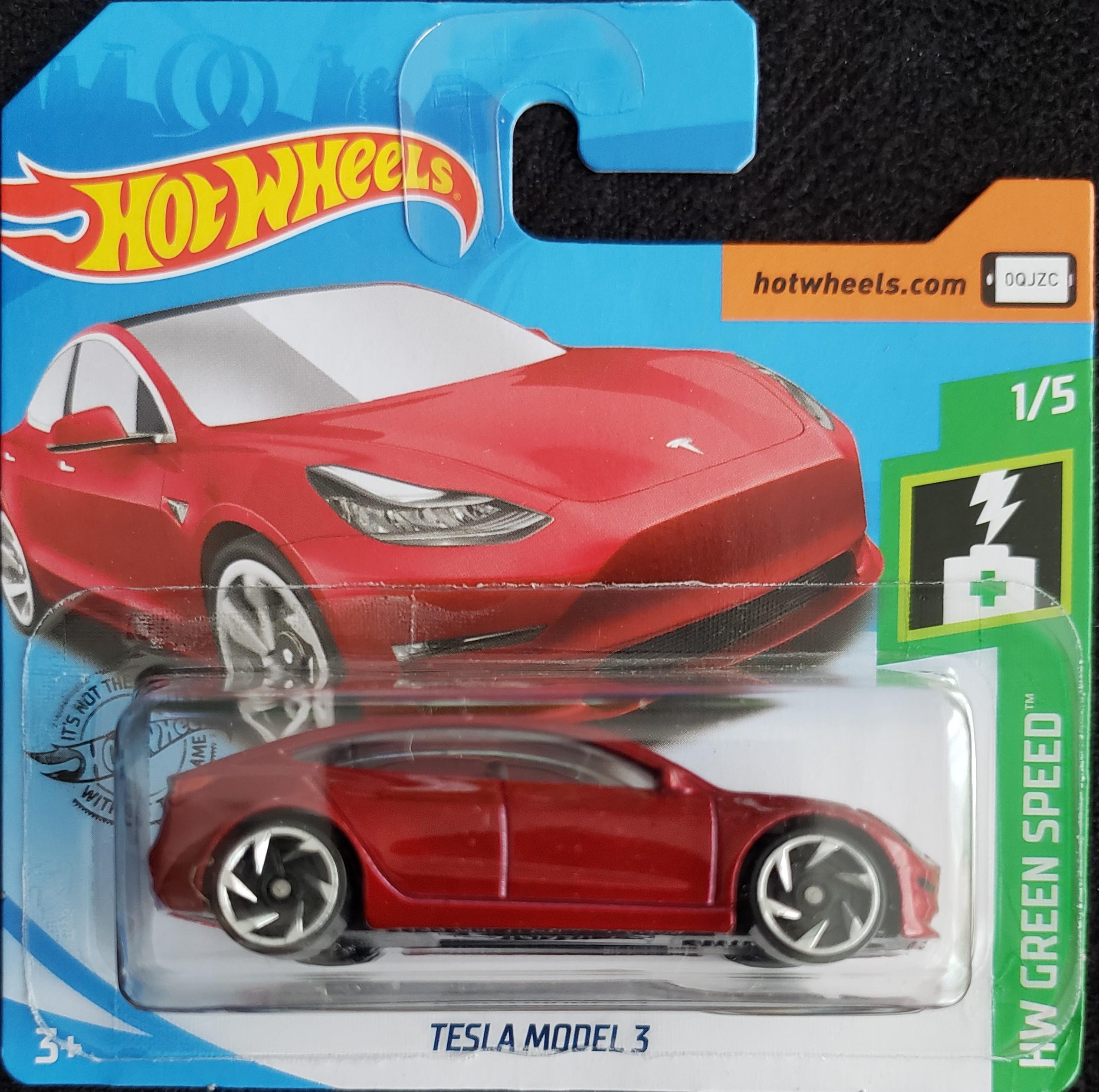 Hot Wheels Green Speed - Tesla Model 3 - Universo Hot Wheels