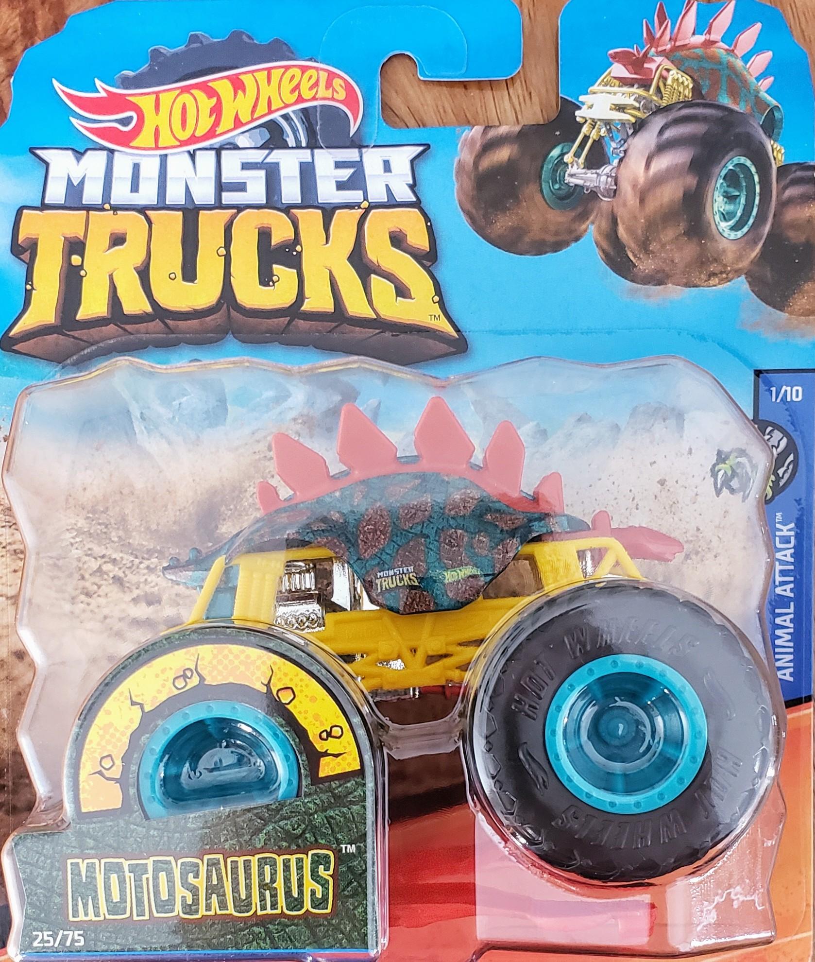 Hot Wheels Monster Trucks Animal Attack Motosaurus Universo Hot Wheels